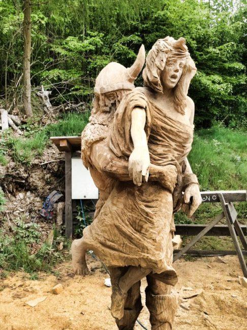 Viking attack simon o rourke tree carving