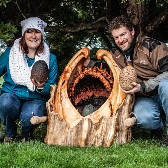 Simon O'Rourke Game of Thrones Egg Carrier carving