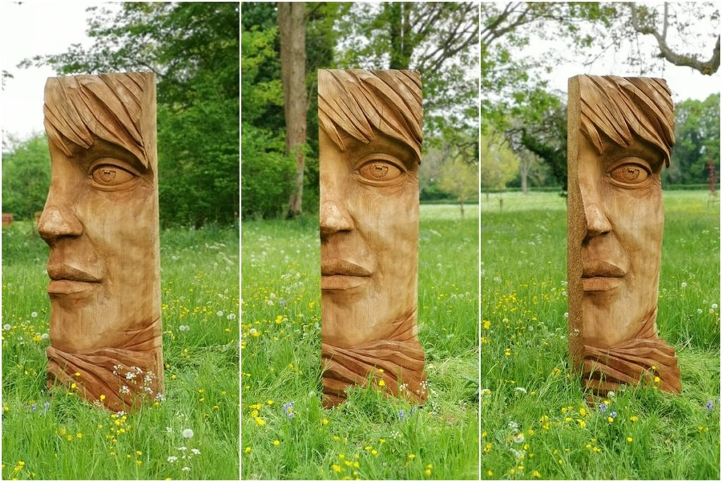 Face I on display at The Sculpture Garden 2019