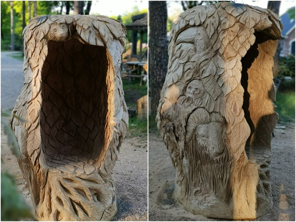 The finished Jungle Seat