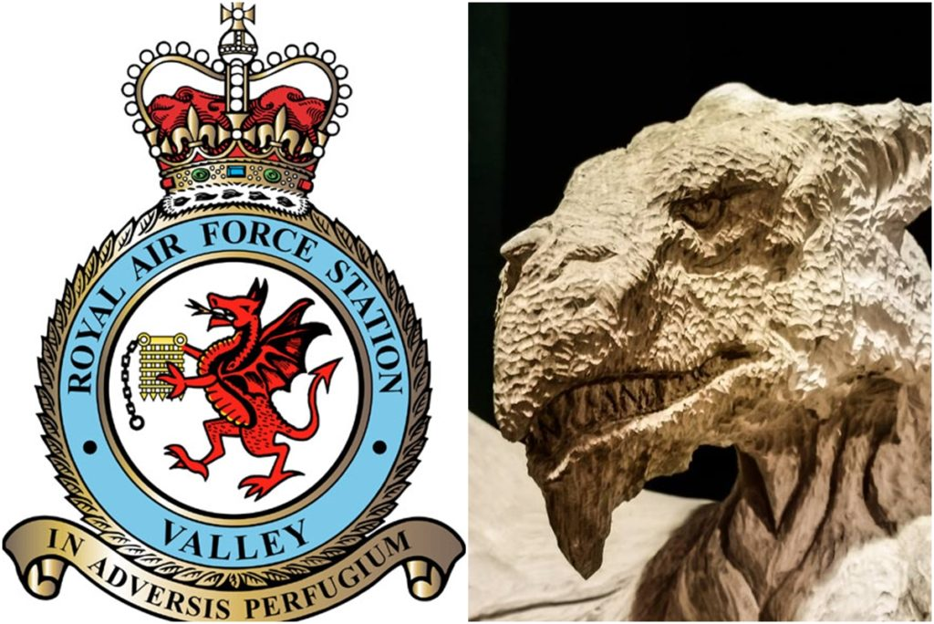 Comparison of RAF Valley Dragon with Simon O'Rourke's Sculpture