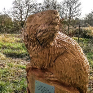 Verity Vole by Simon O'Rourke, part of the Page's Wood sculpture trail