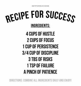 Image of A 'recipe for success' we recently spotted online.