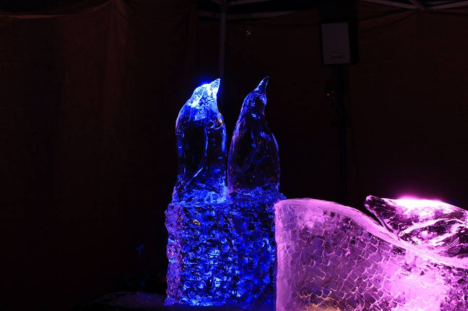 Penguin Ice Carving by Simon O'Rourke for Ice Carving for Christmas 2017