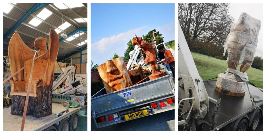 Working with treetech to deliver sculptures