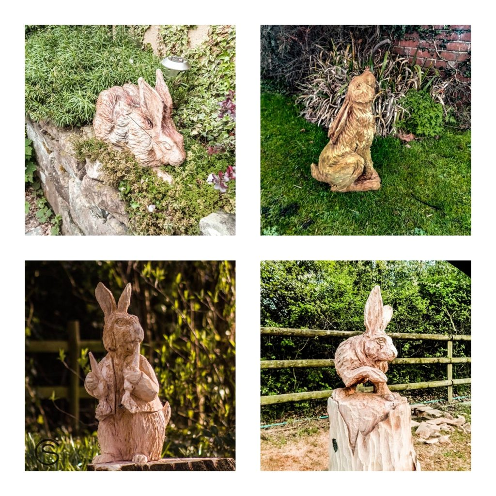 Spring is in the air - easter bunny sculptures by Simon O'Rouke