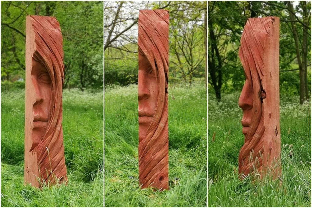 Face II on display at The Sculpture Garden 2019
