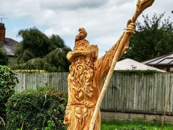 Radagast the Brown by Simon O'Rourke. Radagast is on of his movie based sculptures.