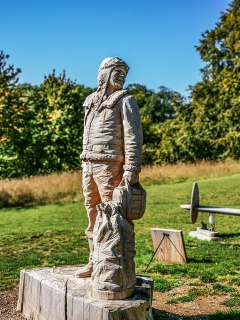 Highclere Castle Airman by Simon O'Rourke