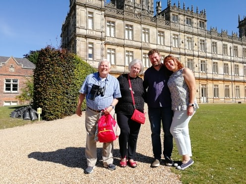 Simon O'Rourke meets sister of deceased Highclere Castle Airman