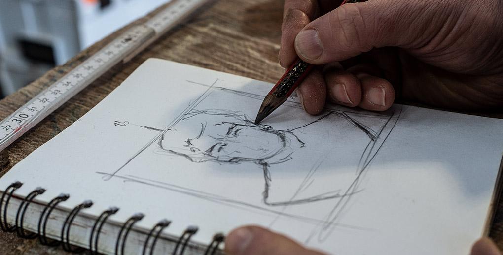 Simon sketching the face of ayrton senna. Impact of Creativity and Art on Mental Health