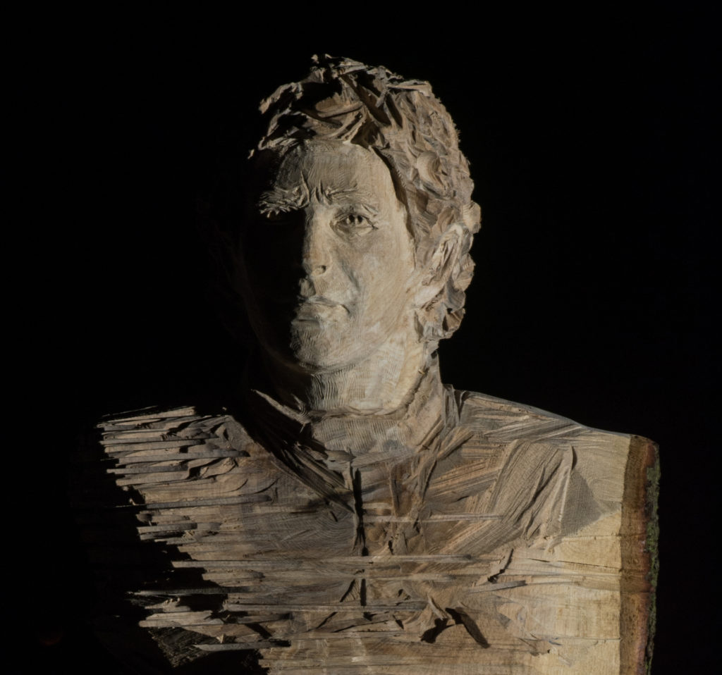 Bust of Ayrton Senna by Simon O'Rourke