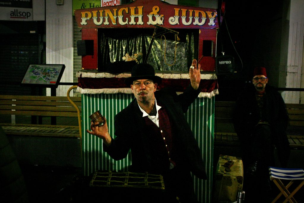 Punch and Judy show at Wrexham Victorian Christmas Market