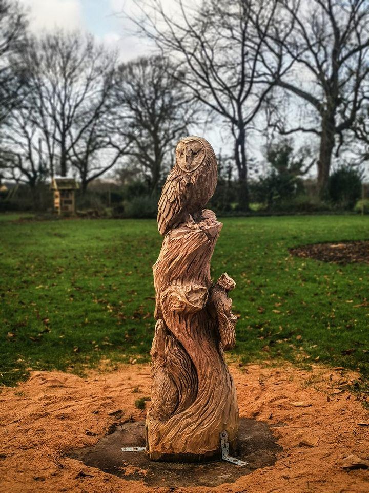 Finshed Capenhurst Woodland Scene by Simon O'Rourke