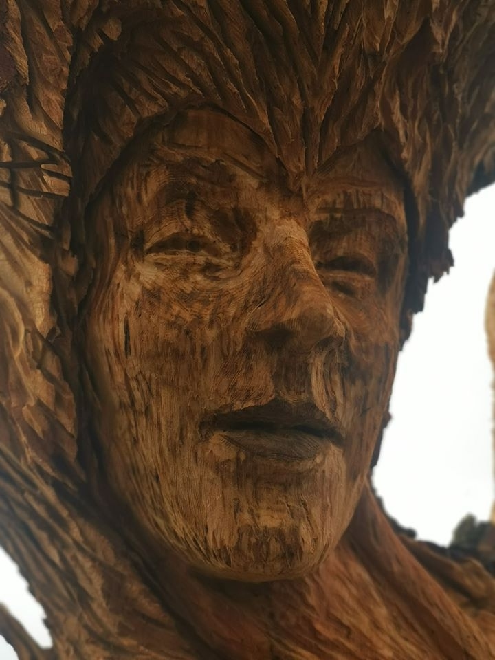 Face of an oak maiden by simon o'rourke