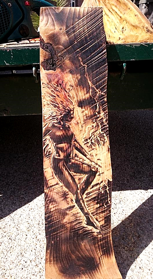 comic book illustration in wood by simon o'rourke