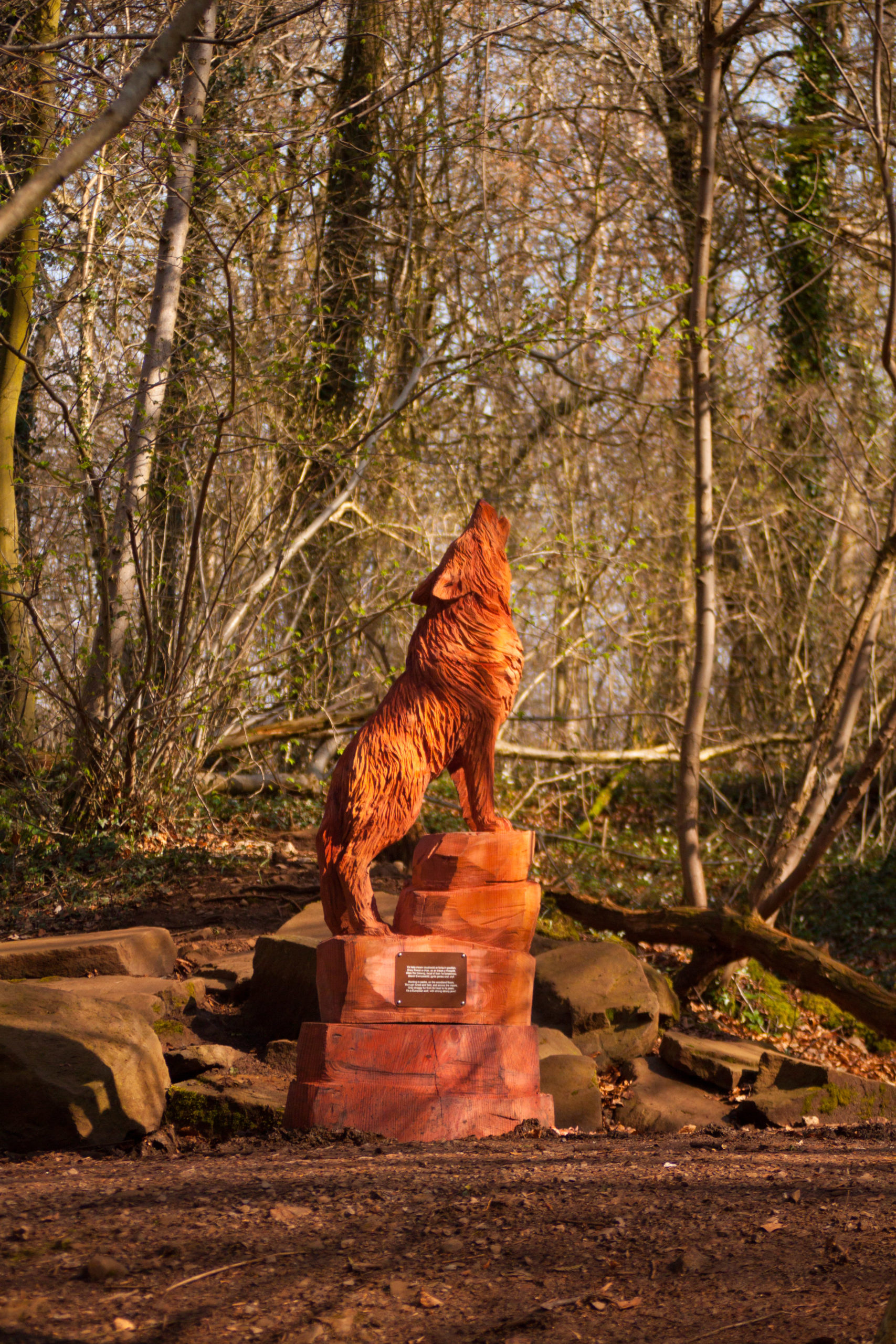 fforest fawr woodland sculpture trail by simon o'rourke: european wolf