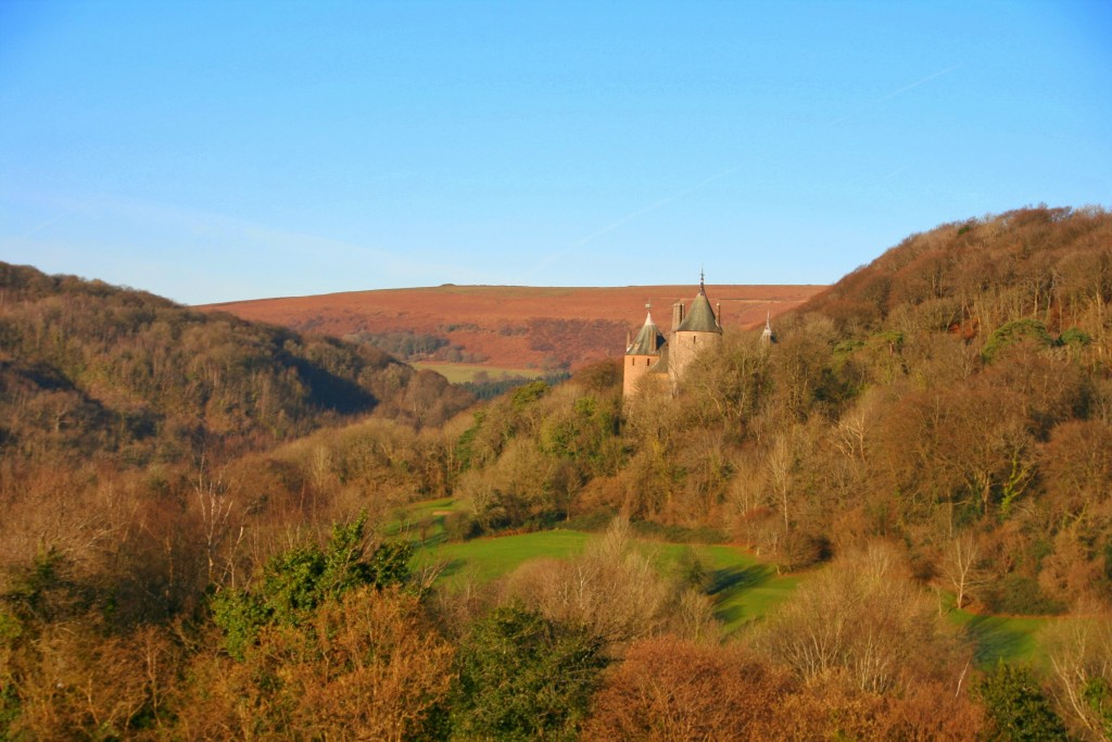 Castell Coch viewed through fforest fawr