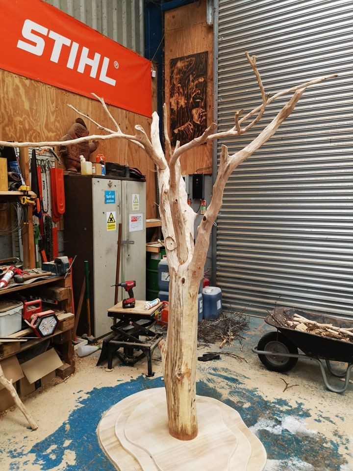 Work in progress. A photo of the giving tree sculpture for Ronald McDonal house by simon O'Rourke.