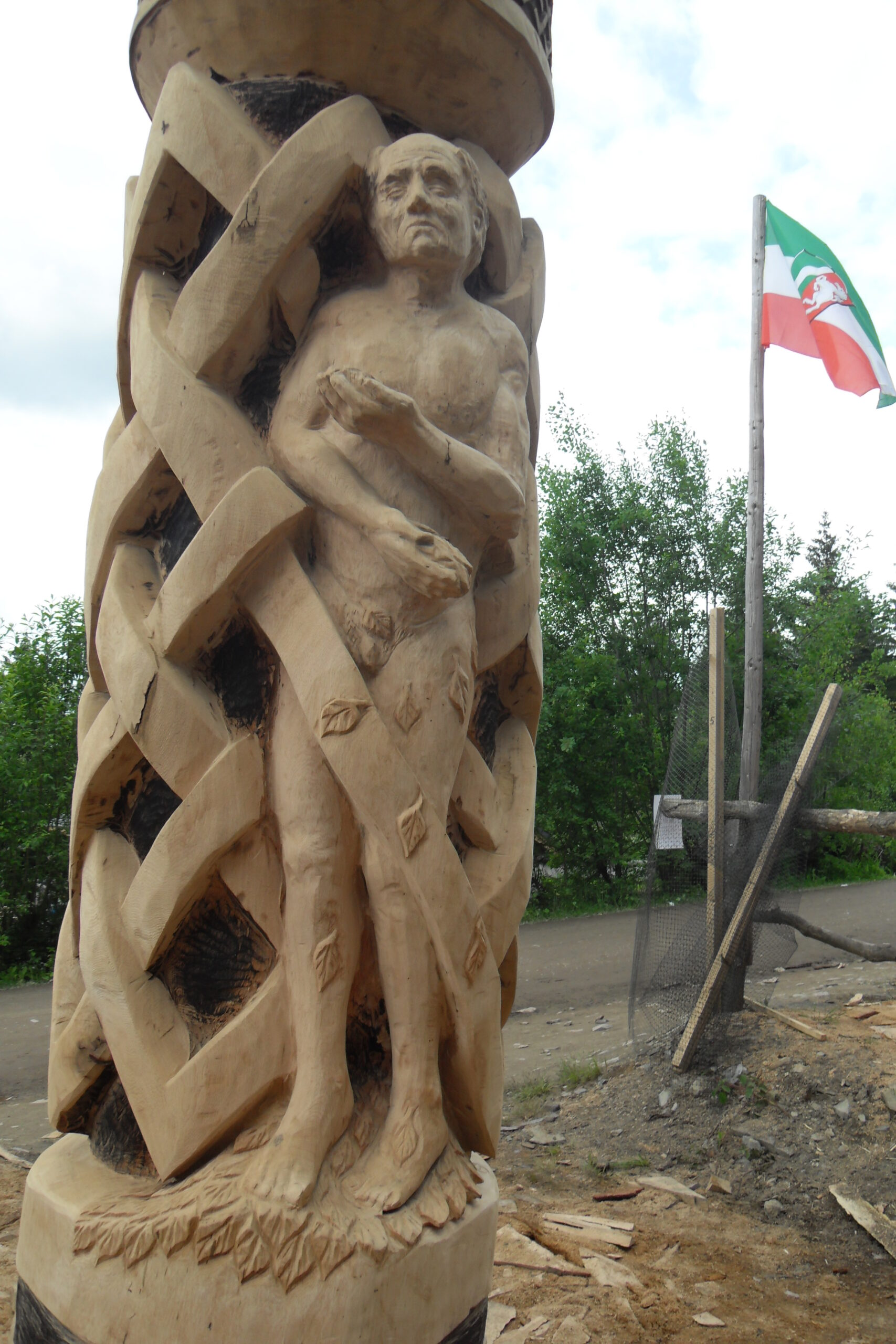 nude man incorporated into illar featuring celtic knotwork by simon o'rourke