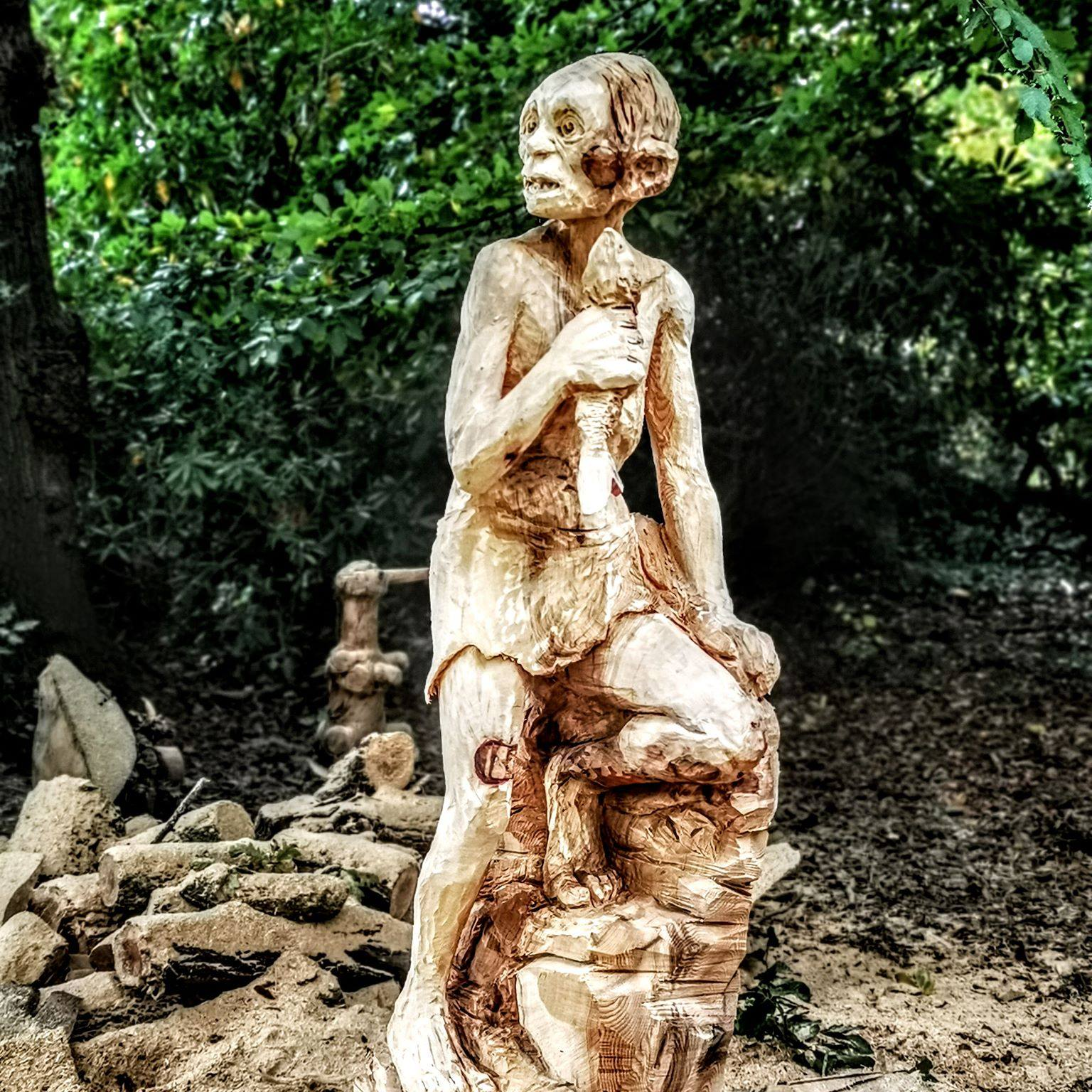 Gollum by Simon O'Rourke. One of Simon's 2012 sculpture commissions will be a sculpture of Shakespeare sitting on a bench to add to his sculptures already at Poulton Hall.