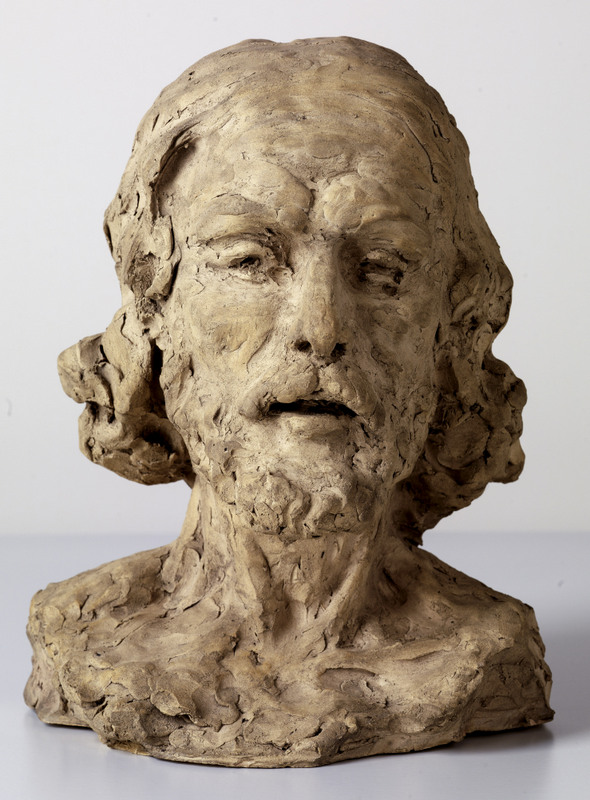 Who are your influences? Photo shows head of john the baptist; a sculpture by Rodin. It has a rough, imperfect finish that has influenced Simon O'Rourke