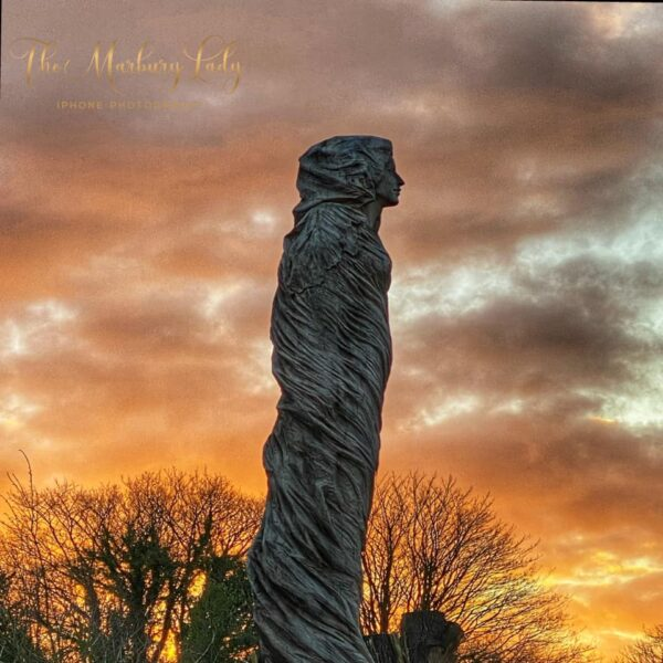 The Marbury Lady Revisited: Sunset photo of the Marbury Lady