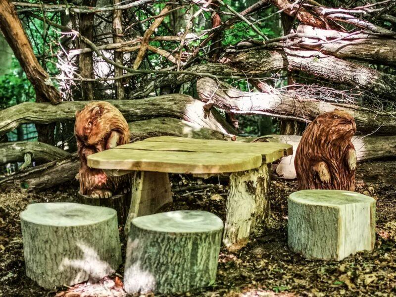 narnia beaver den sculptures by simon o'rourke