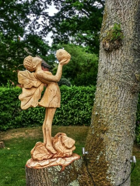 The oak fairy tree carving sculpture by simon o'rourke