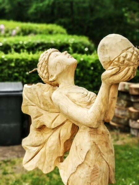 Simon O'Rourke's oak fairy sculpture