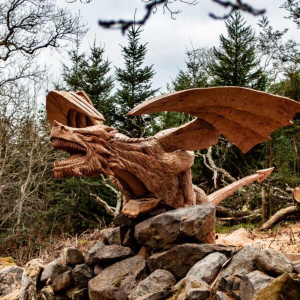 dragon of bethesda sculpture by simon o'rourke